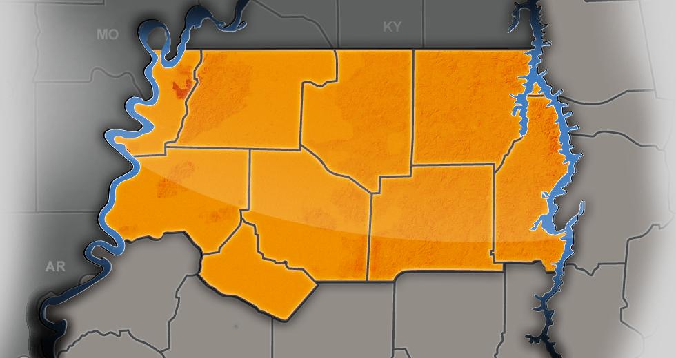 Northwest Tennessee Regional Map