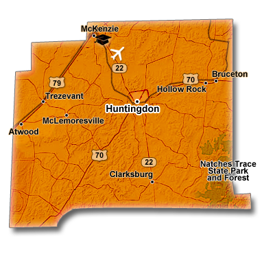 Carroll County, TN Map