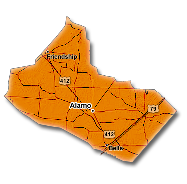 Crockett County, TN Map